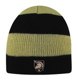 Rugby Striped Knit Beanie with West Point Shield