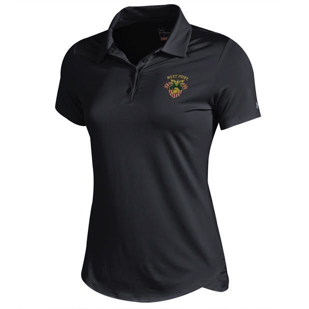 Under Armour Women's Polo with USMA Crest, Black