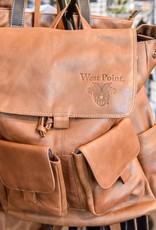 Leather Rucksack with USMA Crest. Allow 2-3 weeks extra delivery time. Shipped directly from Factory to you.