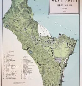 Map of West Point, Circa 1883, Numbered