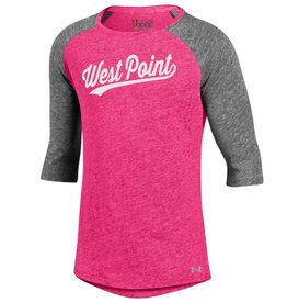 Under Armour Girls Triblend Baseball Tee