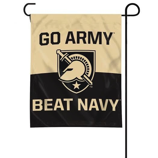 """GO ARMY  Beat Navy"" Garden Flag"