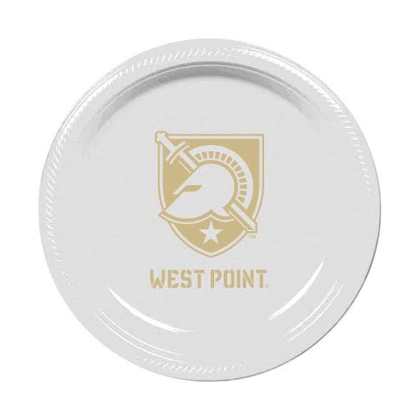 West Point Plastic Plates (10 Count)