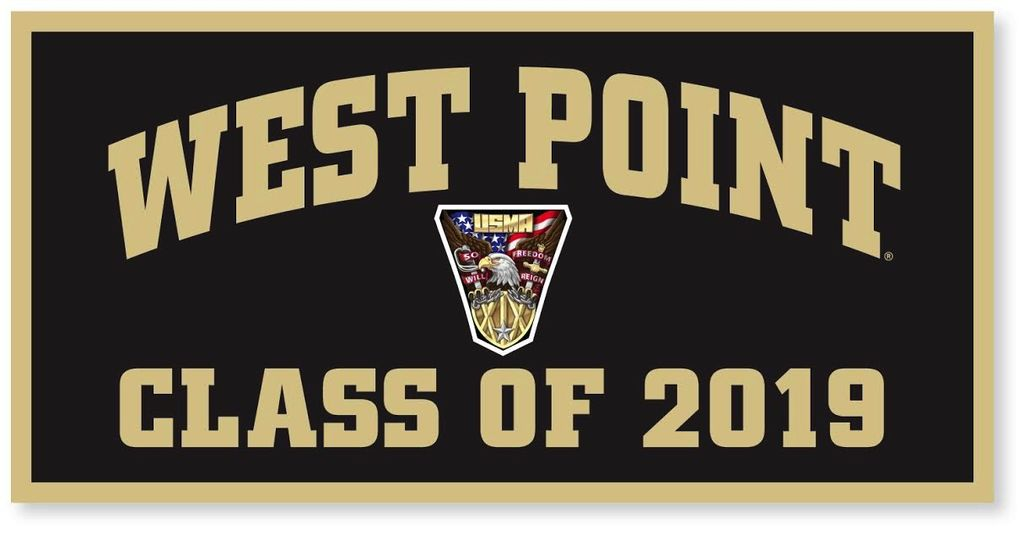 West Point Class of 2019 Banner (18 x 36 Inches) (Class Specific Crest)