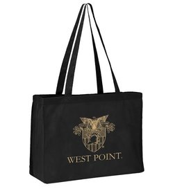 Black West Point Crest Tote Bag