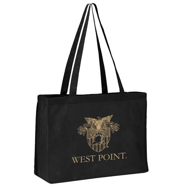 Black West Point Crest Tote Bag