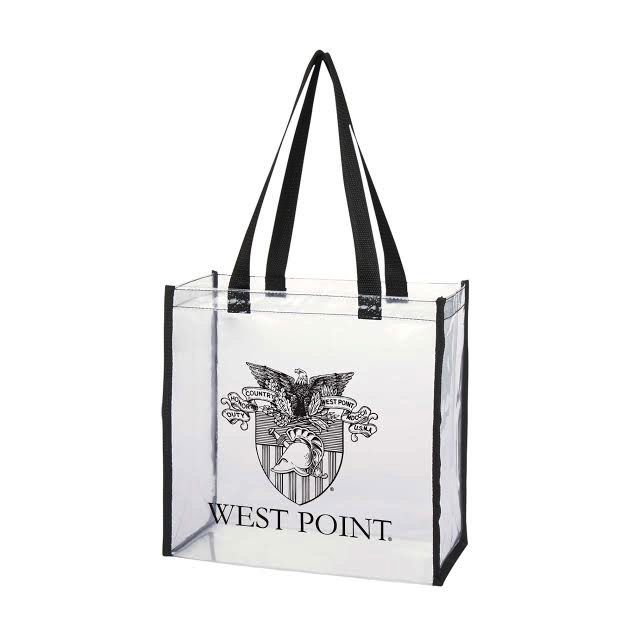 Clear West Point Tote Bag with Crest