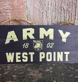 Army West Point Wooden Plank Hanging Sign