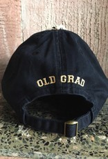 """Old Grad"" Relaxed Twill Baseball Cap/Black"