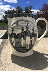Liverpool Jug (West Point China), Black/Gray, 12""