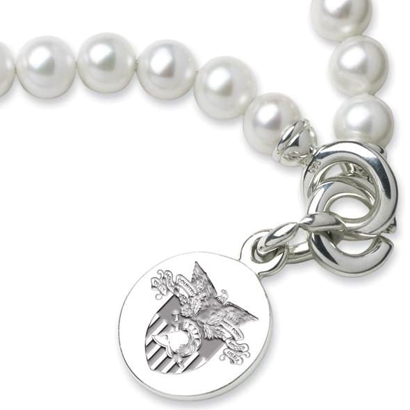 West Point Pearl Bracelet with Sterling Silver Charm (M. LaHart)