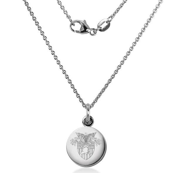 West Point Sterling Silver Necklace with Silver Charm (M. LaHart)