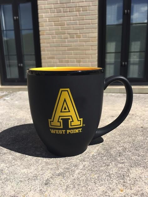 "BLACK/Block ""A"" West Point Mug/ with Yellow (15 ounce)"