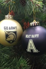 """Go Army/Beat Navy"" Two Pack Shatterproof Ornaments"