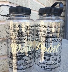 West Point Names/Clear Nalgene Bottle