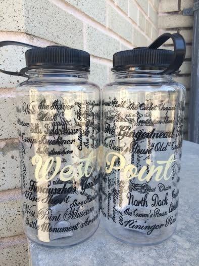 West Point Names/Clear Nalgene Bottle