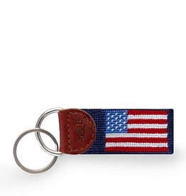 American Flag Needlepoint Key Fob (Smathers and Branson)
