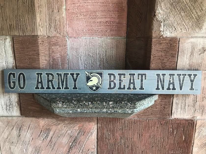 """""""Go Army Beat Navy"""" Doorway Plank Sign (4 by 36 inches)"""