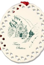 West Point Train Station Christmas Ornament