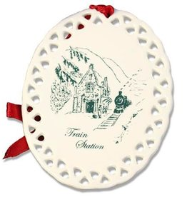 West Point Train Station Christmas Ornament (D. Remine)