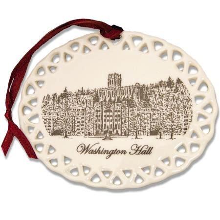 Washington Hall Christmas Ornament