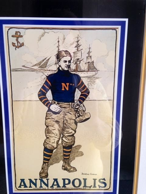 Print of Football at West Point: West Point and Annapolis