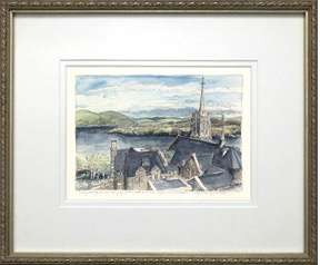 """Framed """"Above the Catholic Chapel, To The Hudson"""" (MMullin)"""