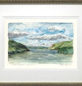 Print from Original Watercolor. Beautifully matted and framed.