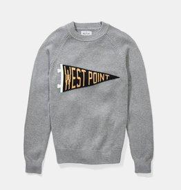 West Point Pennant Crewneck Sweater (Hillflint)