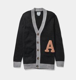 Wool Blend Letter Cardigan (Hillflint)