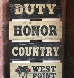 Ladder Pallet Sign w/ Duty Honor Country/ West Point