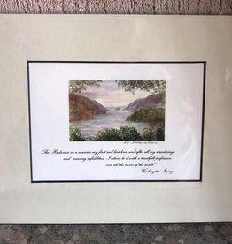 Hudson River Quote Matted Print  (8 x 10) (Dorian)