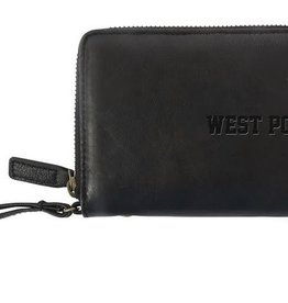 West Point Black Leather Zip Wristlet (Tenaya Canyon)