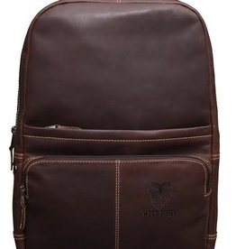 Kannah Canyon Leather Backpack with Crest