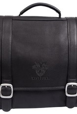 Willow Rock Computer Leather Briefcase (Black)