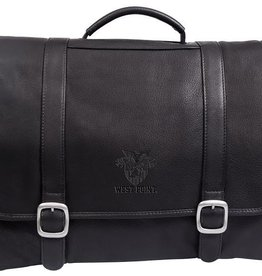 West Point /Crest Leather Briefcase
