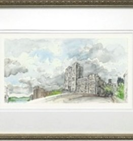 Framed Walking Over Thayer Bridge to Thayer Hall (M. Mullin)