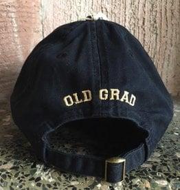 """Old Grad"" Relaxed Twill Baseball Cap/Black"
