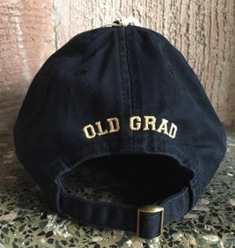 """Old Grad"" Twill Baseball Cap/Black"