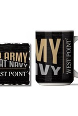 Go Army Beat Navy Mug and Coaster Combo