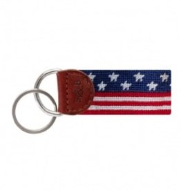 Old Glory Needlepoint Key Fob (Smathers and Branson)
