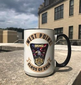 West Point Class Crest 2019 Mug (15 Ounce)/Two Tone Academy Mug w/ Black Interior and Handle