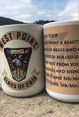 West Point Class Crest 2019 Mug (15 Ounce)/Two Tone Academy Mug w/ Black Interior and Handle