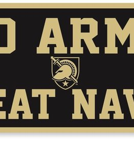 GO ARMY/Beat Navy Banner, Black (18 x 36)