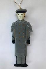 Female/Caucasian/Gray Overcoat/Cadet Ornament(St. Nicholas)