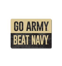 GO ARMY/Beat Navy Rectangular Wood Magnet