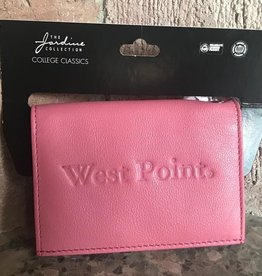 Leather Snap ID Holder-Pink