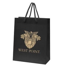 "Black West Point Crest Gift Bag (8 x 10"")"