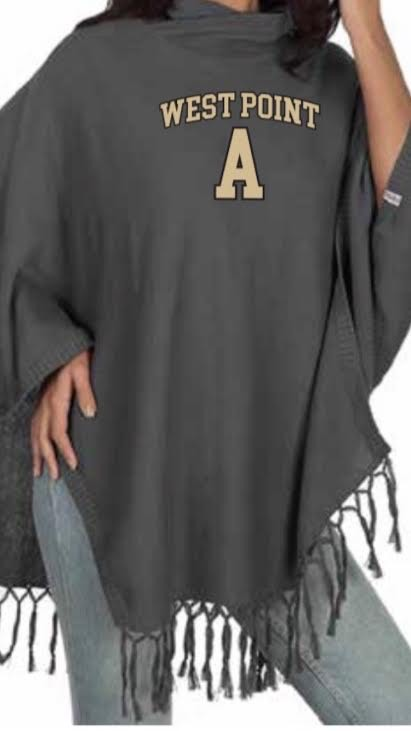 Sweater Tassel Poncho (Gray)
