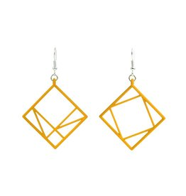 JEWE Cofactor Pythagorean Theorem Earrings, Yellow